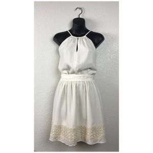 Express Embroidered Tie Sleeveless Dress